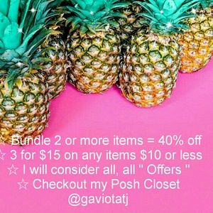 Bundle 2 or more items = 40% off